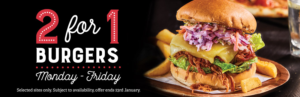 2-4-1 Burgers at The Red Lion